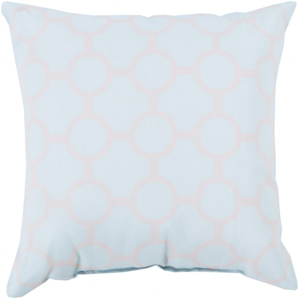 Rain Sky Blue Light Gray Square Throw Pillow (L 26 X W 26 X H 5) RG121-2626