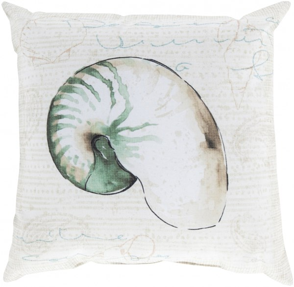Rain Beige Ivory Olive Polyester Throw Pillow - 18x18x4 RG132-1818