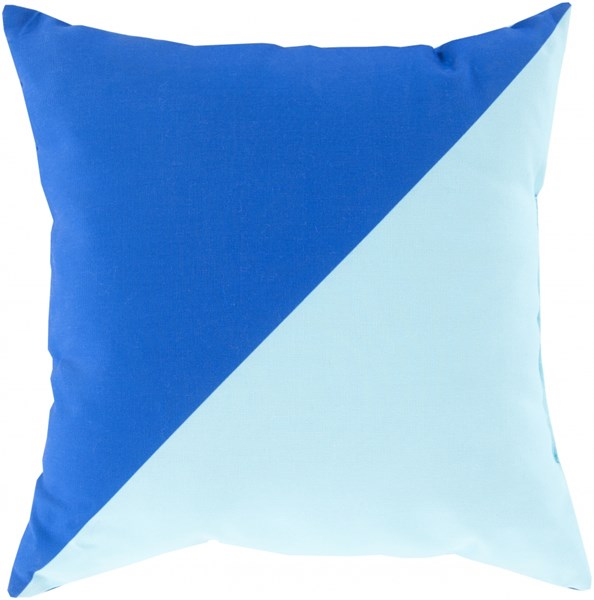 Rain Cobalt Sky Blue Polyester Throw Pillow (L 26 X W 26 X H 5) RG138-2626