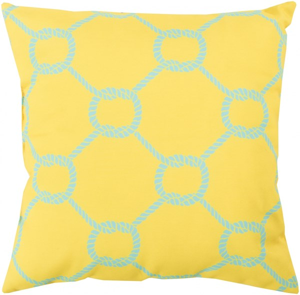Rain Sunflower Sky Blue Polyester Throw Pillow - 26x26x5 RG144-2626