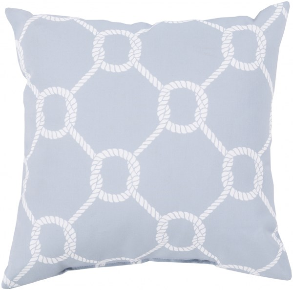 Rain Light Gray Polyester Throw Pillow (L 18 X W 18 X H 4) RG148-1818