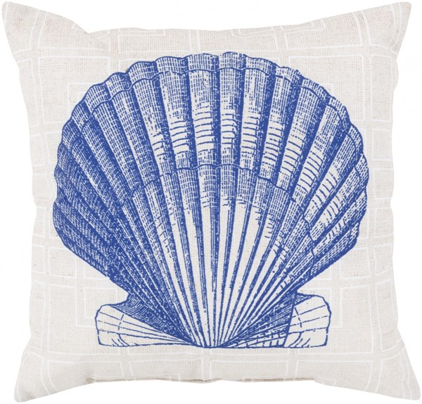 Rain Coastal Cobalt Ivory Polyester Throw Pillow (L 20 X W 20 X H 5) RG151-2020