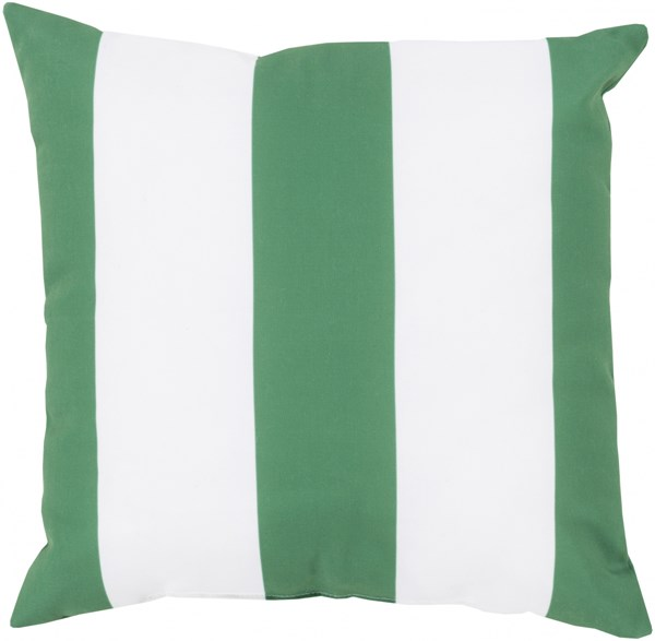 Rain Emerald Green Ivory Polyester Throw Pillow (L 18 X W 18 X H 4) RG156-1818