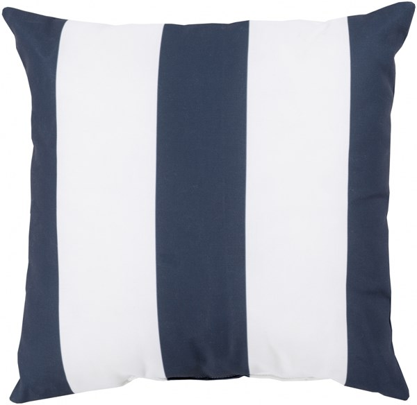 Rain Navy Ivory Polyester Striped Throw Pillow (L 20 X W 20 X H 5) RG159-2020
