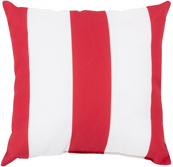 Rain Poppy Ivory Polyester Striped Throw Pillow (L 18 X W 18 X H 4) RG160-1818