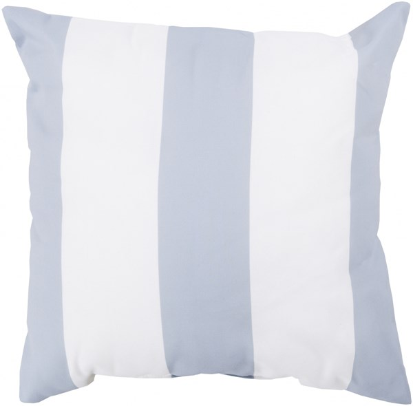 Rain Light Gray Ivory Polyester Throw Pillow (L 18 X W 18  H 4) RG161-1818