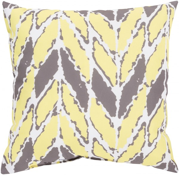 Rain Light Gray Peach Polyester Throw Pillow - 26x26x5 RG173-2626