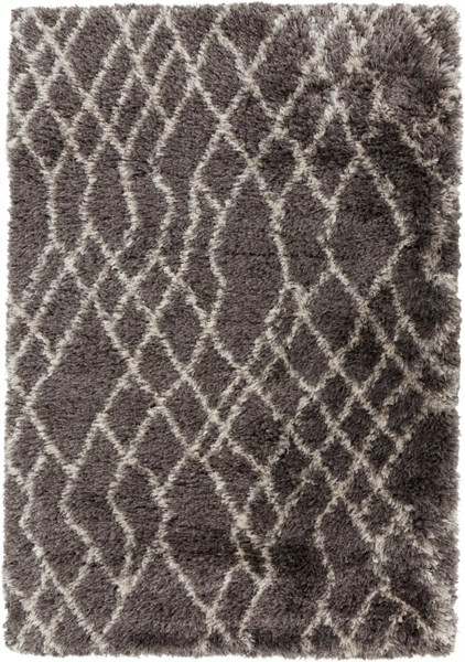 Rhapsody Contemporary Taupe Ivory Polyester Fabric Area Rugs 817-VAR1