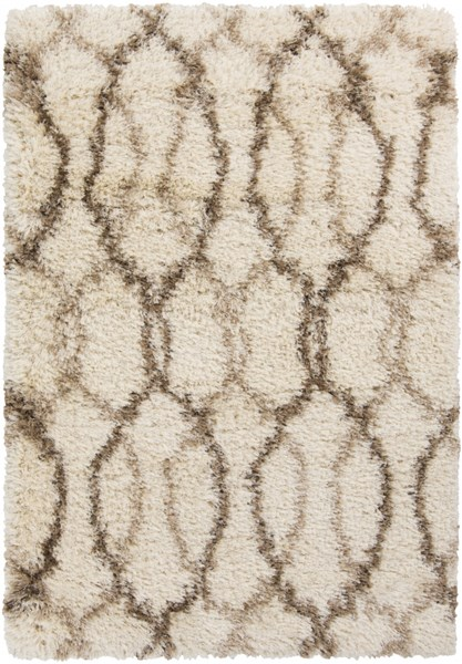 Rhapsody Beige Taupe Polyester Fabric Rectangle Area Rug (L 96 X W 60) RHA1031-58