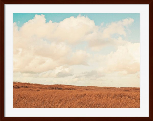 Surya Eternal Brown Paper Clouds Over The Field Wall Art - 40x40 RK100A001-4040