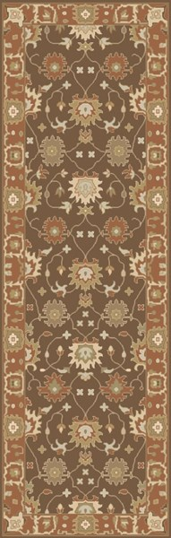 Relic Vintage Mocha Coral Lime Fabric Runners 12727-VAR1