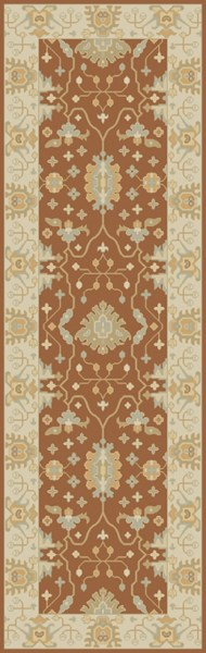 Relic Traditional Rust Ivory Lime Fabric Runners 12885-VAR1