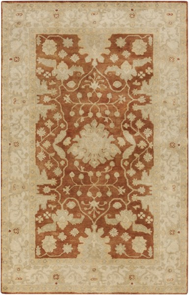 Relic Traditional Rust Ivory Lime Fabric Area Rug (L 90 X W 60) RLC3001-576