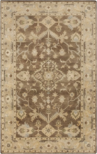 Relic Taupe Beige Slate Wool Area Rug (L 90 X W 60) RLC3003-576
