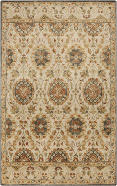 Relic Beige Gold Charcoal Fabric Area Rug (L 90 X W 60) RLC3004-576