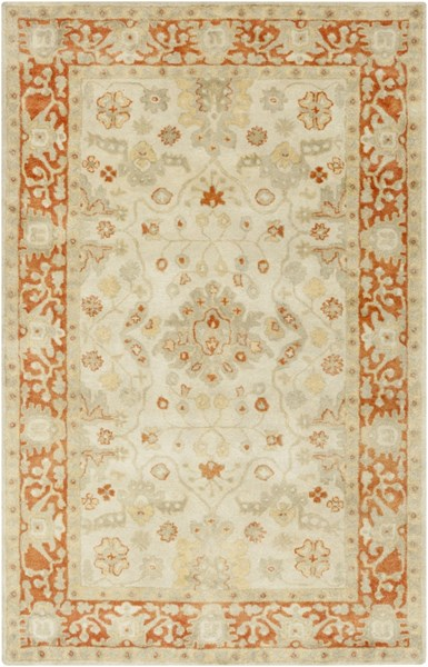 Relic Vintage Beige Olive Tangerine Fabric Area Rug (L 90 X W 60) RLC3006-576