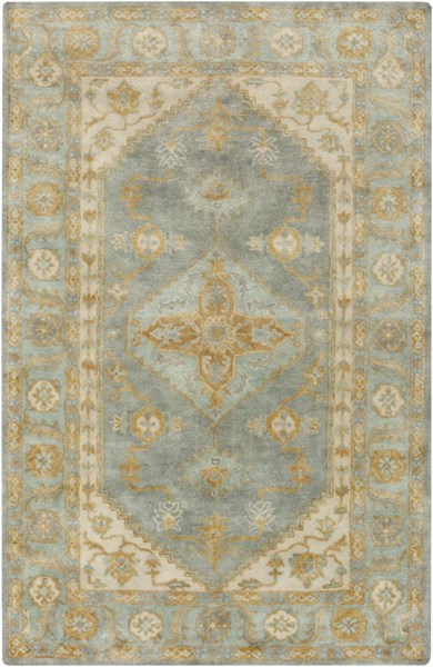 Relic Vintage Moss Gold Light Gray Fabric Area Rug (L 90 X W 60) RLC3008-576