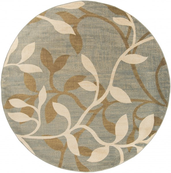 Riley Lime Olive Chocolate Polypropylene Round Area Rug RLY5012-8RD
