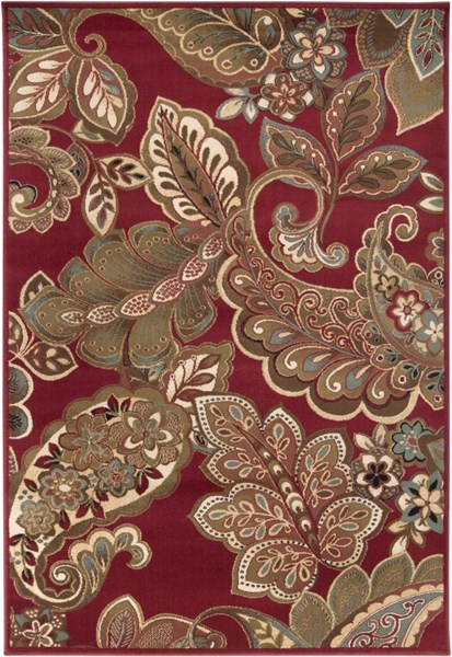 Surya Riley Dark Red Brown Camel Polypropylene Area Rug - 130x94 RLY5020-7101010