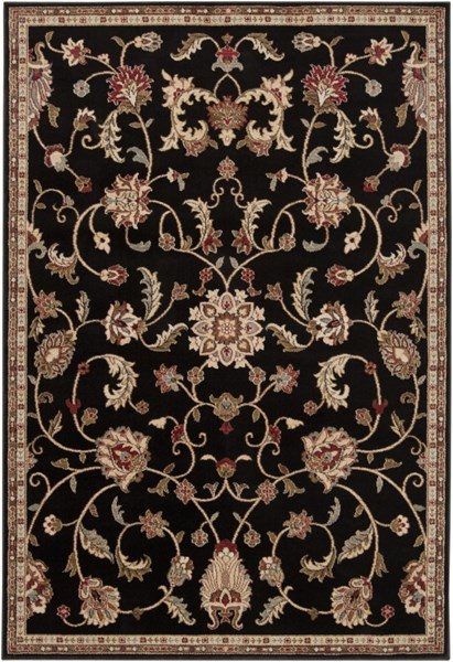Surya Riley Black Tan Bright Orange Polypropylene Area Rug - 90x63 RLY5025-5376