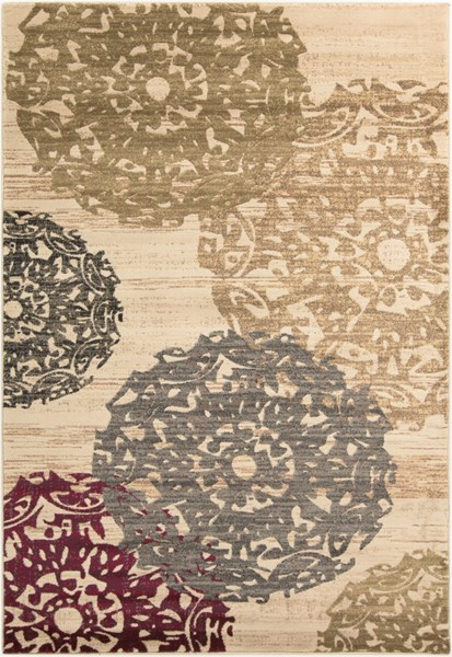Riley Butter Beige Gray Polypropylene Area Rug (L 90 X W 63) RLY5051-5376