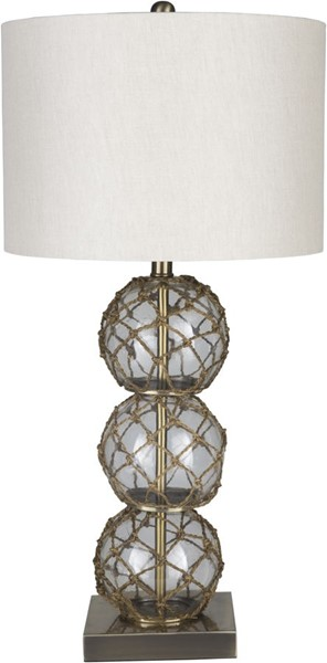 Surya Rainey White Glass Table Lamp - 15x29.50 RNY-001