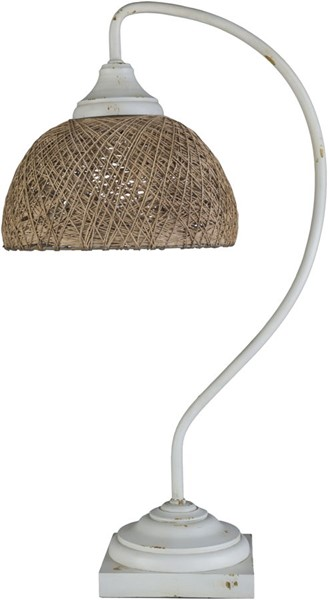 Surya Roark White Jute Table Lamp - 14.25x25.25 RRK-001