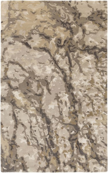 Remarque Olive Light Gray Charcoal Fabric Area Rug (L 90 X W 60) RRQ2008-576