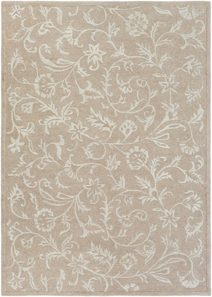 Raj Light Gray Wool Area Rug (L 132 X W 96) RST1215-811
