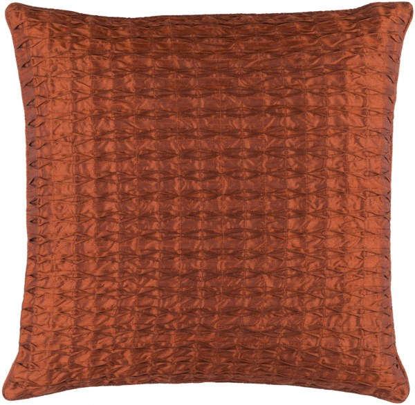 Rutledge Pillow With Poly Fill In Rust (L 20 X W 20 X H 5) RT001-2020P