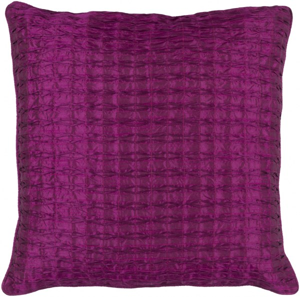 Rutledge Eggplant Polyester Throw Pillow (L 18 X W 18 X H 4) RT002-1818D