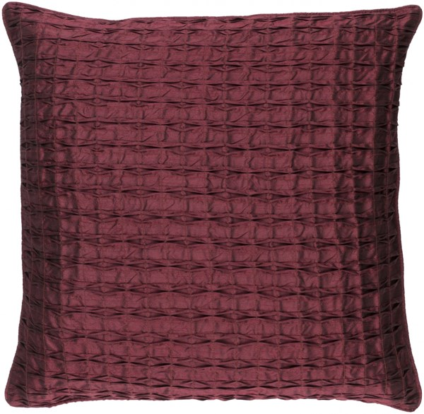 Rutledge Burgundy Polyester Throw Pillow (L 18 X W 18 X H 4) RT003-1818P