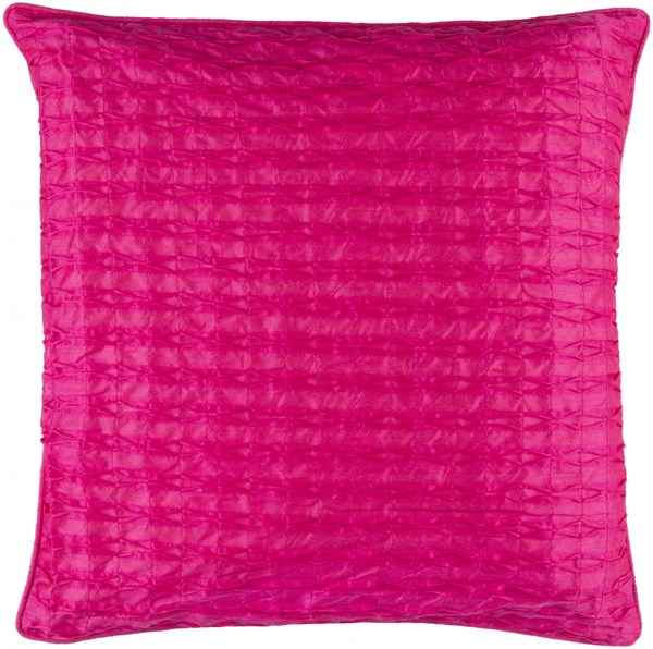Rutledge Modern Hot Pink Polyester Throw Pillow (L 18 X W 18 X H 4) RT004-1818P