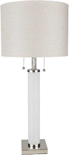 Surya Russo White Glass Table Lamp - 15x33 RUO-001