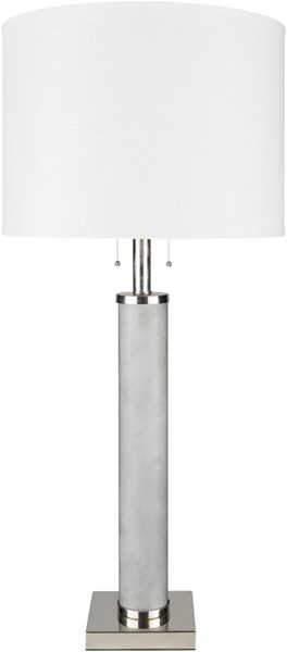 Surya Russo Medium Gray Glass Table Lamp - 15x33 RUO-003