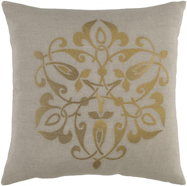 Ravati Gold Light Gray Fabric Poly Throw Pillow (L 22 X W 22 X H 5) RV002-2222P