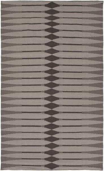 Rivington Light Gray Chocolate Taupe Fabric Area Rug RVT5004-576