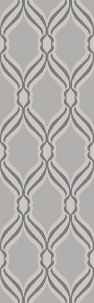 Rivington Contemporary Slate Light Gray Fabric Area Rugs 14861-VAR1