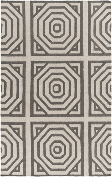Rivington Contemporary Light Gray Fabric Rectangle Area Rug RVT5010-576