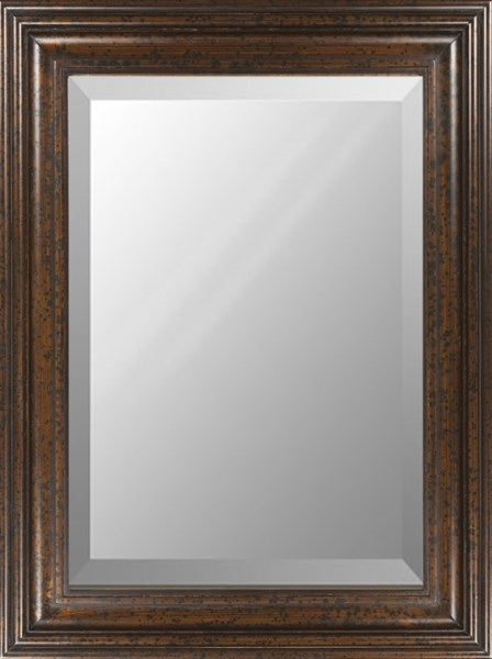 Surya Wall Decor Golden Brown Wood Wall Mirror - 48x36 RWM2012-3648