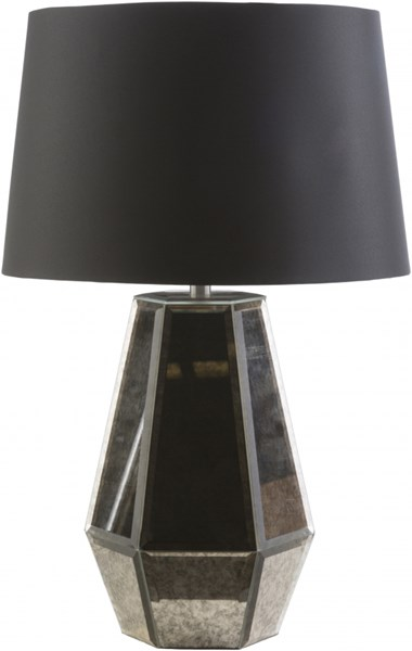 Ryden Pewter Glass Polyester Table Lamp - 16x27.5 13935-VAR1