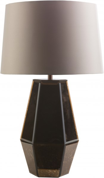 Ryden Copper Ivory Glass Polyester Table Lamp - 14x23.25 RYD461-TBL