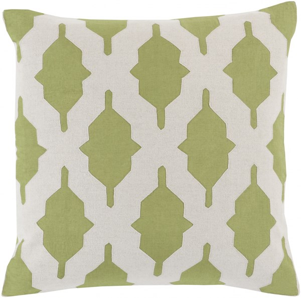 Salma Contemporary Olive Beige Fabric Throw Pillow (L 22 X W 22 X H 5) SA002-2222P