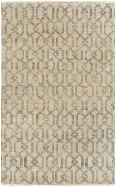 Stanton Contemporary Charcoal Light Gray Fabric Area Rugs 14867-VAR1