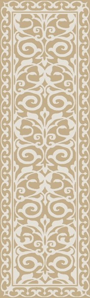 Samual Contemporary Beige Polyester Area Rug (L 96 X W 30) SAU1103-268
