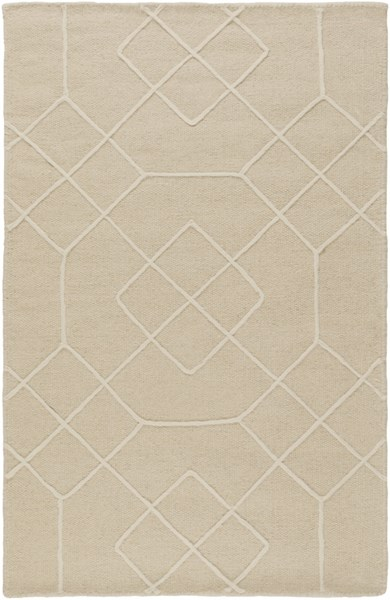 Seabrook Contemporary Beige Ivory Fabric Area Rug (L 36 X W 24) SBK9002-23