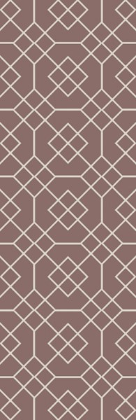 Seabrook Contemporary Mauve Gray Fabric Runner (L 96 X W 30) SBK9005-268