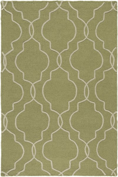 Seabrook Contemporary Olive Beige Fabric Area Rug (L 36 X W 24) SBK9011-23