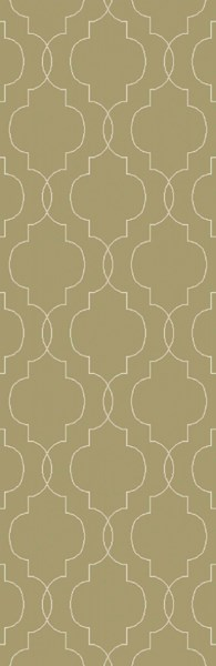 Seabrook Contemporary Olive Beige Fabric Runner (L 96 X W 30) SBK9011-268