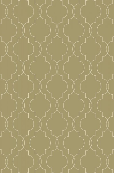 Seabrook Contemporary Olive Beige Fabric Area Rug (L 90 X W 60) SBK9011-576